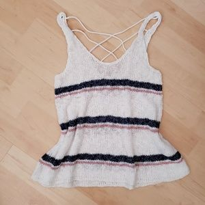 American Eagle Sweater Knit Cross Back Tank Top M